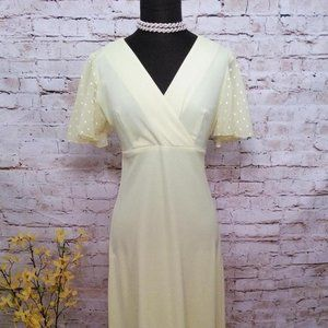 VTG 70's Sunny Yellow Allegro New York Maxi Dress